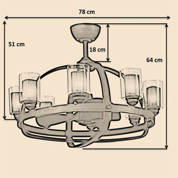 Kích thước quạt trần Royal Crown