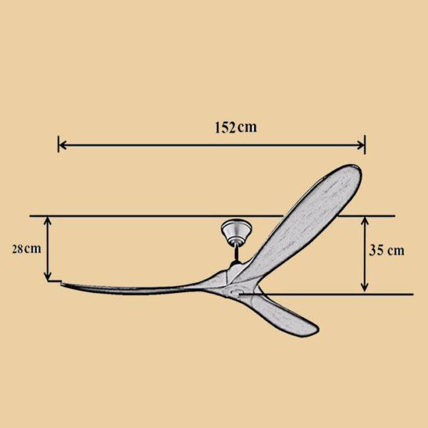 Kích thước quạt trần Royal Eagle 60