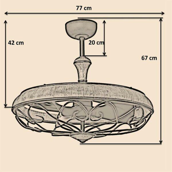Kích thước quạt trần Royal Eliza