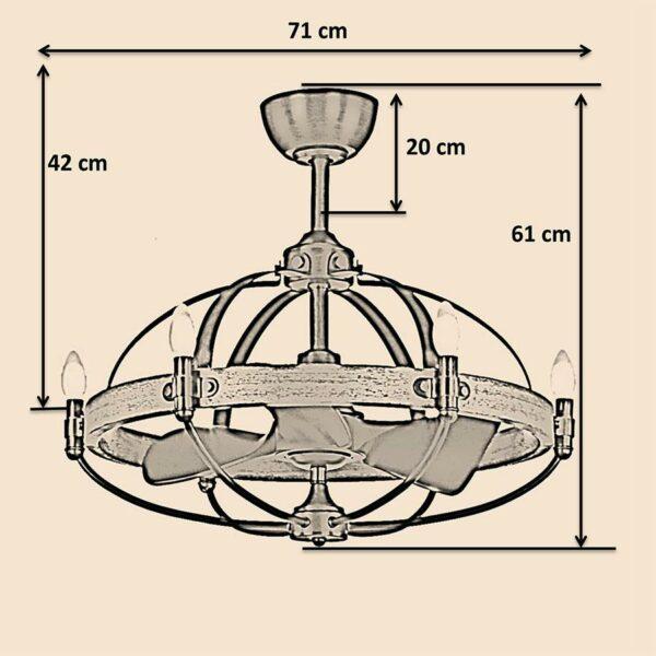 Kích thước quạt trần Royal Monalisa