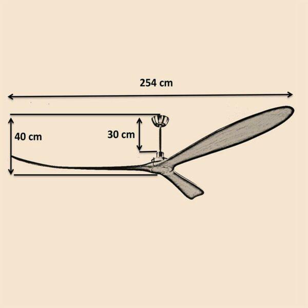 Kích thước quạt trần Royal Timmer 100