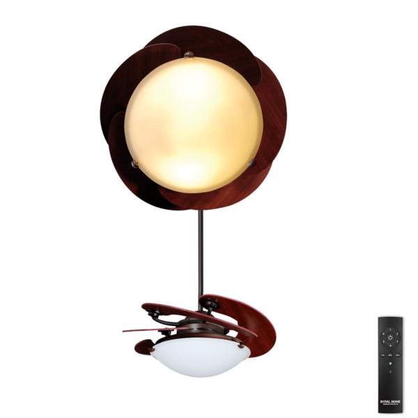 Quạt trần Royal Sole 5 cánh Gỗ cụp xòe cao cấp có đèn led đổi 5 màu độc đáo