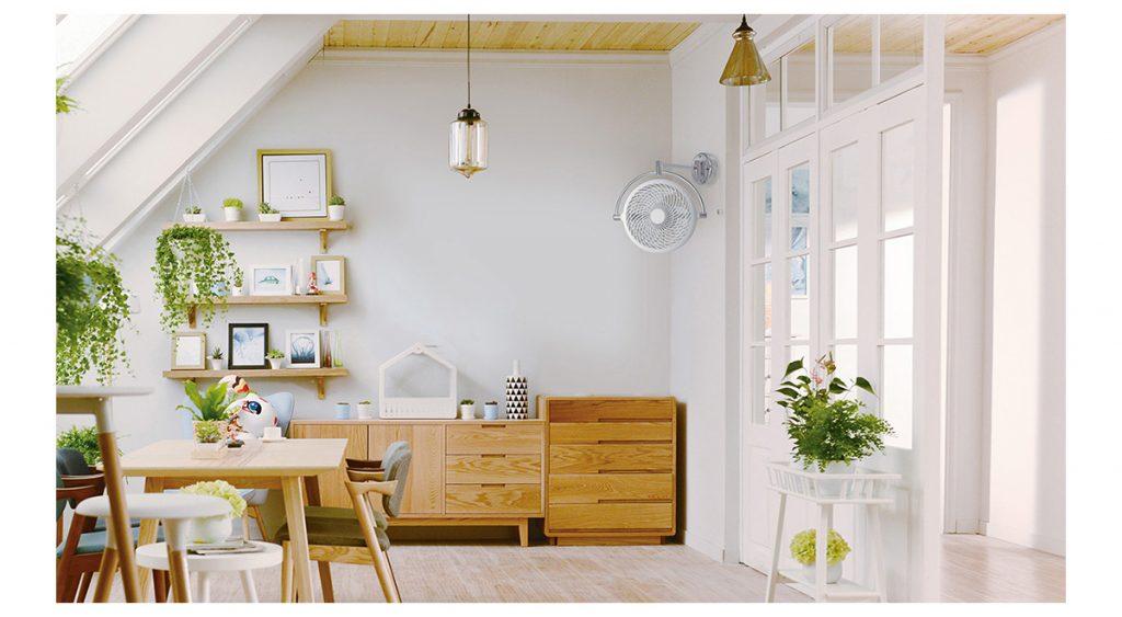 quạt treo tường màu trắng đẹp