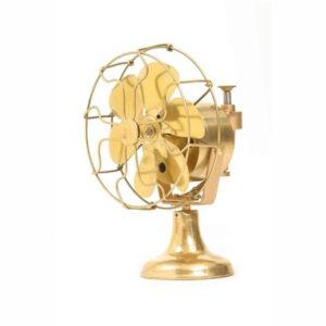 Quạt bàn mạ vàng cổ FS-062-G01